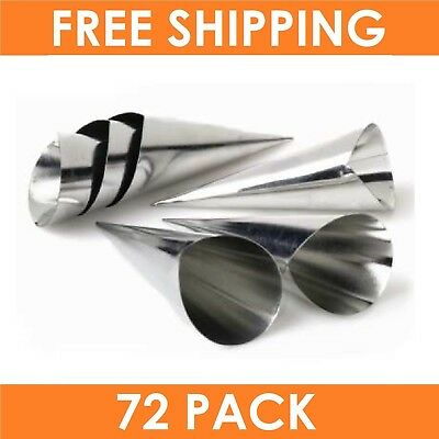 72 x CREAM HORN MOULDS Non Stick Baking Tools Dessert Pastry Cups Cases Mould