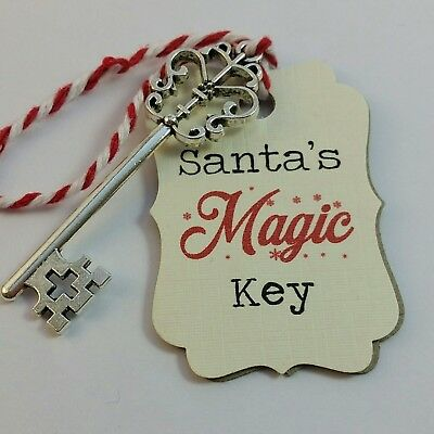Santa's Magic Key Christmas Ornament Decoration  Poem Kids Christmas in july