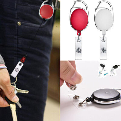 Safety Retractable Holder Badge Lanyard Reel Key Card ID Name Tag Belt Clip