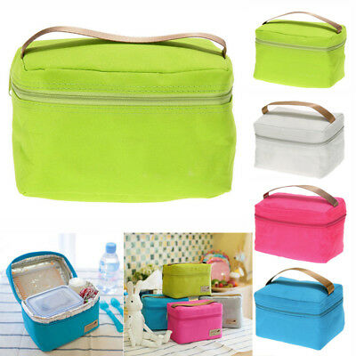 Portable Lunch Box Insulated Thermal Cooler Bento Bag Picnic School Bag Food Box