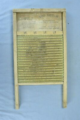 Antique THE BRASS KING WASHBOARD TOP NOTCH FRONT DRAIN LAUNDRY ROOM WASHING 5399