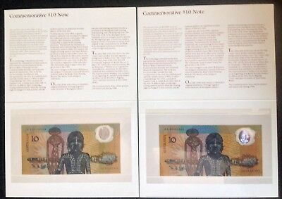 1988 $10 First Prefix Aa 00 And Last Aa 23 Notes And   Folders Set  Unc C/v $495