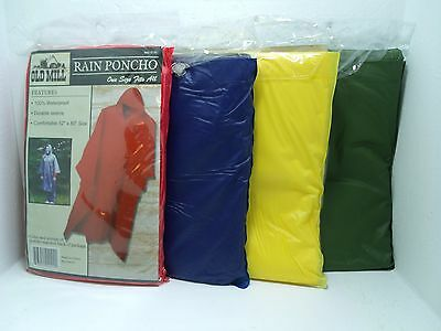 Old Mill PVC Rain Poncho, 52x80 You Choose Red or Blue NEW, Survival, Prepper