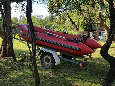 Zodiac inflatable boat and trailer