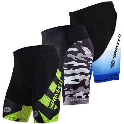 Mens Cycling Shorts, Team Bike Shorts Padded, MTB Road Cycling Half Pants