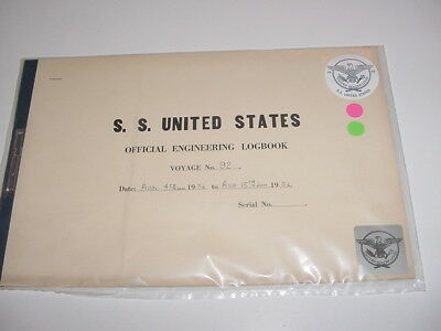 SS UNITED STATES LINES 1956 Logbook / Voyage #92 / Eastbound & Westbound