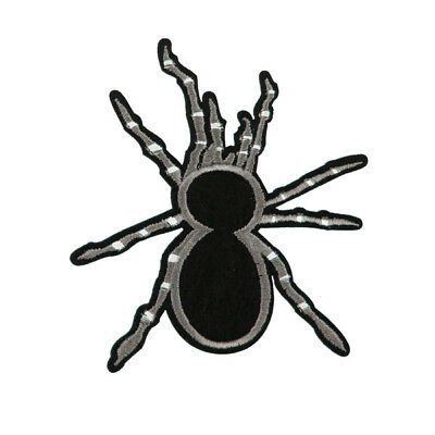 Black Spider Animal Embroidered Patch Iron On T-shirt Sewing Applique Badge DIY