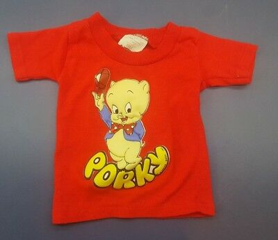Vintage Warner Bros Looney Tunes Porky Pig Size 1 ShirTees T-Shirt - Made in USA