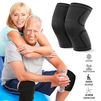 Recovery Knee Compression Sleeve Sport Support for Women, Men, Kids - NON SLIP