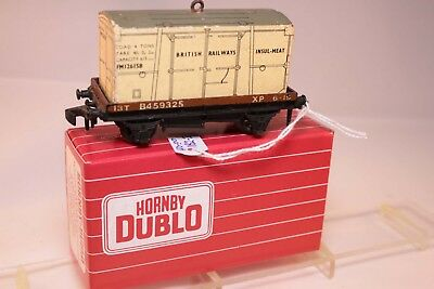 Hornby Dublo 4647 wagon w/ Insul Container x 2 + 1 Furniture wagon unboxed
