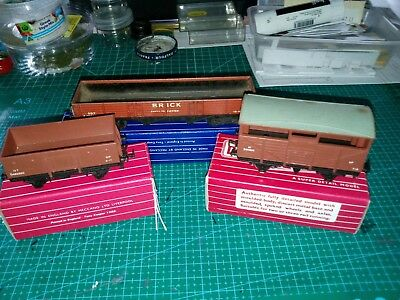 Hornby Dublo 4630, 4640 & D1 Wagon (High Capacity) all boxed
