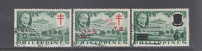 PHILIPPINES-1958-5+5c TB STAMP+NEW O/P & SURCHARGE+S/CHARGE-SG 807-$4.00-freepos