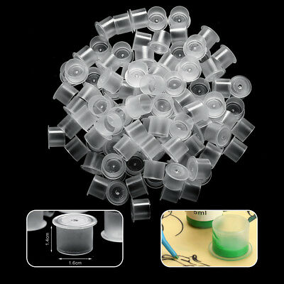100-1000Pcs Tattoo Ink Cap Cup Pot S/M/L Plastic Pigment Accessories Holder n1r