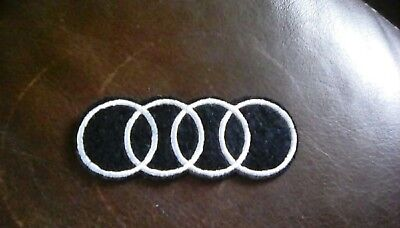 Audi Car Brand Logo Embroidered Patch/Badge Iron On Sew On Uk Seller Automobile