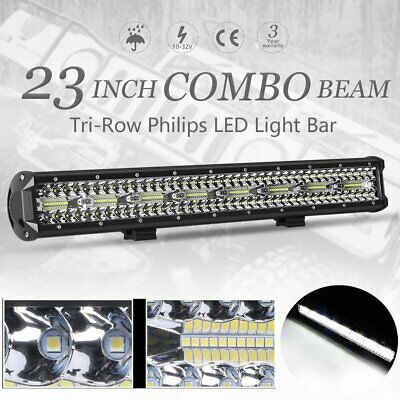 "23""inch Philips LED Driving Light Bar Spot Flood Combo Lamp Offroad 4x4 Truck"