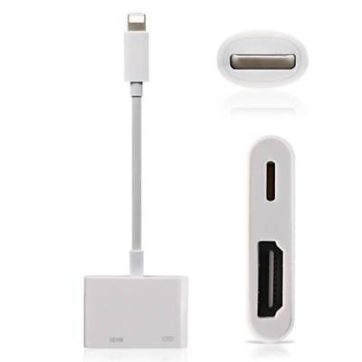 8-Pin Lightning to Digital AV TV HDMI Cable Adapter For iPad Air iPhone 5 6 7 8