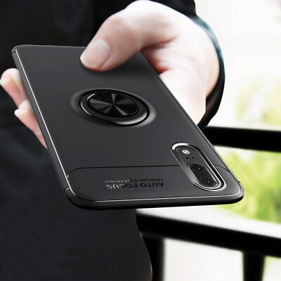 For Huawei P20 Pro/Lite Mate 20 PRO Hybrid Magnetic Ring Holder Stand Case Cover