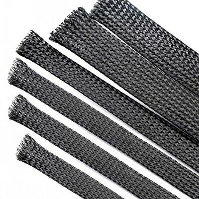 Φ1-18mm Black Braided Sleeving Cable Harness Sheathing Expanding Sleeve Densely