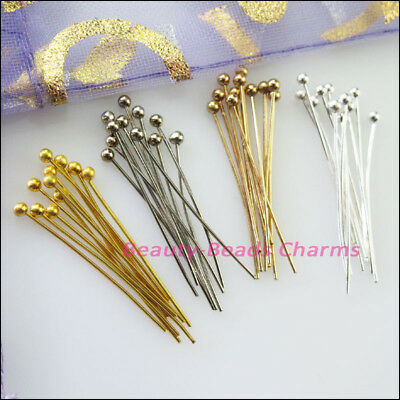 15mm 20mm 25mm 30mm Ball Head Pins 25g Gold Dull Silver Champagne Plated