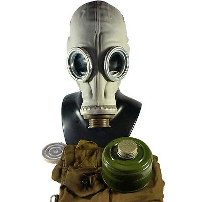 Russian Gas Mask Respirator Facepiece Rubber Vintage Soviet Military Protection