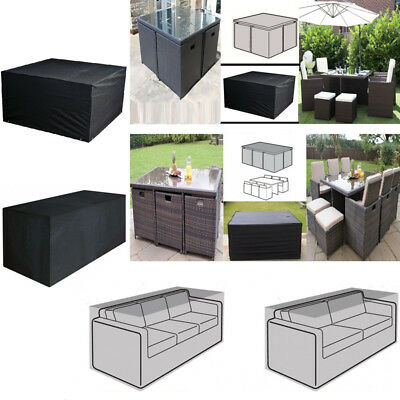 Waterproof Garden Patio Furniture Set Cover Table Sofa Bench Cube Outdoor Covers