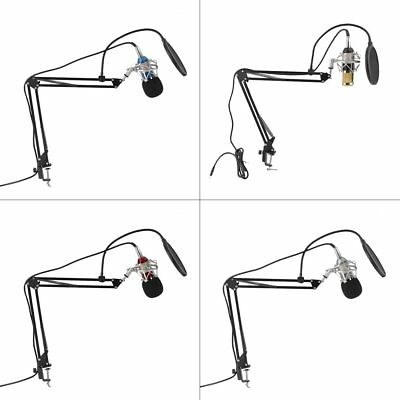 Condenser Sound Recording Microphone With Mount Holder For Karaoke Singing LN