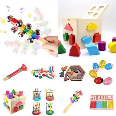 Wooden Toy Gift Baby Kids Intellect Safety Developmental Educational Early Learn