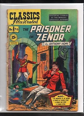 Classics Illustrated #76 Poor  Hrn85  (Prisoner Of Zenda) Anthony Hope
