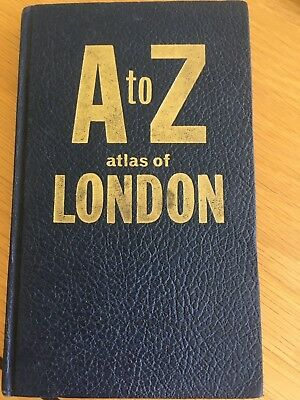 Vintage Hardback Geographers' A to Z Street Atlas of London thought to be 1950s