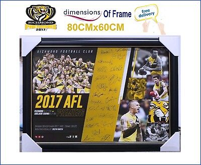 2017 AFL Richmond PREMIERS Professionally Licensed Team Print Framed 80 x 60 CM
