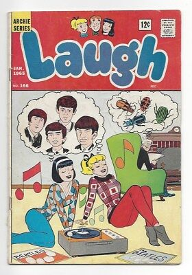 Laugh #166 Beatles cover 1965 Archie Betty Veronica John Paul George Ringo