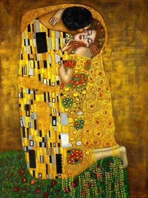 A4 laminated - Gustav Klimt The Kiss old  posters
