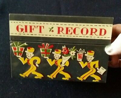 Vintage Gift Record Card File Box Recipe Box Stylecraft Poodle Tin Litho