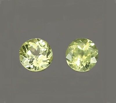 2 CHRYSOBERYLLE  -  ROUND FACET  -  4,2 mm  -  0,81 ct.