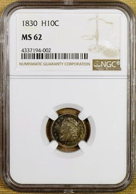 1830 LM-3 NGC MS62 Bust Half Dime