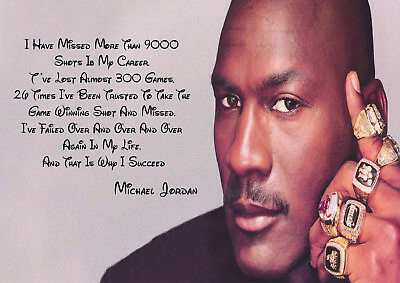 BASKETBALL MICHAEL JORDAN -   Pink Inspirational Typography  Quote Posters