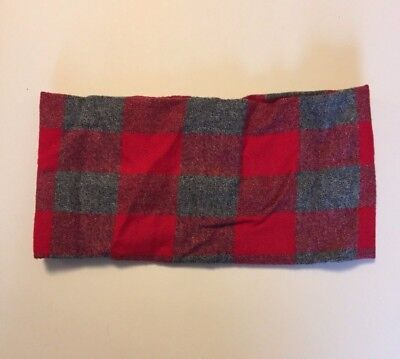 Etsy Handmade Red Gray Buffalo Plaid Infinity Scarf Fit 3-7 Yr Warm Winter