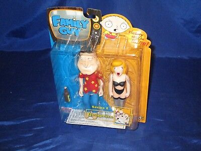 """Family Guy Series 2 Quagmire With Plug-In Playmate 6"""" Figure Mezco 2005 Sealed"""