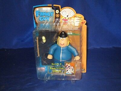 """Family Guy Series 8 Exercise Chris With Treadmill 6"""" Figure Mezco 2007 Sealed"""