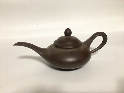 Antique Old Asian Clay Terracotta Buccaro Signed Teapot Oriental Middle Eastern?