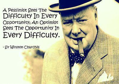 Winston Churchill 1 - Motivational Inspirational Typography famous Quote Posters