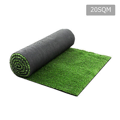 NEW Artificial Grass 20 SQM Polyethylene Lawn Flooring 15mm Olive