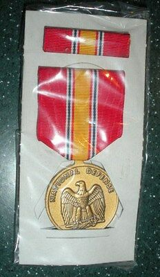 National Defense Service Medal -  Medal & Ribbon  - Full Size in box