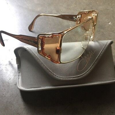 Men S Original Vintage Cazal 951 97 Gold Frame Ivory Brown Clear