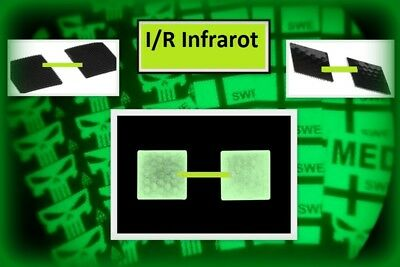 Ready to patch 2x Real Square Mini Infrarot IFF identification friend or foe