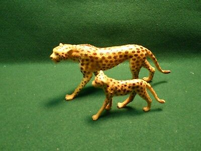 Cheetah Mother And Cub Plastic Toy Animal Figures