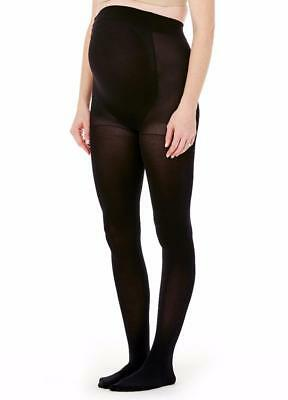 Ingrid & Isabel Maternity Opaque Tights Hosiery L/XL Black #1513  New in package