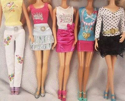 New Barbie doll random pick outfits/clothes/dress x5 and x5 pairs of shoes