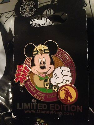 Chinese Lunar New Year of the Sheep Disney Parks LE Pin Mickey Mouse Firecracker