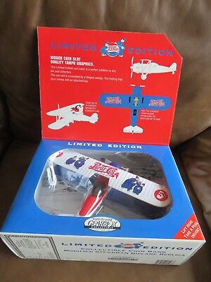 Pepsi Limited Edition Modified1932 Stearman Plane Coin Bank by Gearbox